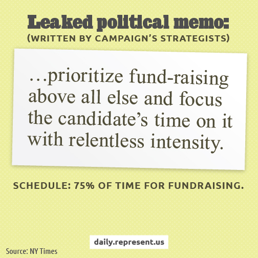 Leaked Political Memo Describes Candidate's Real Priorities