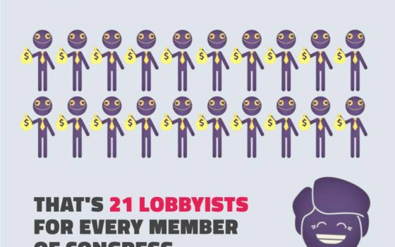 21 Lobbyists for every Lawmaker